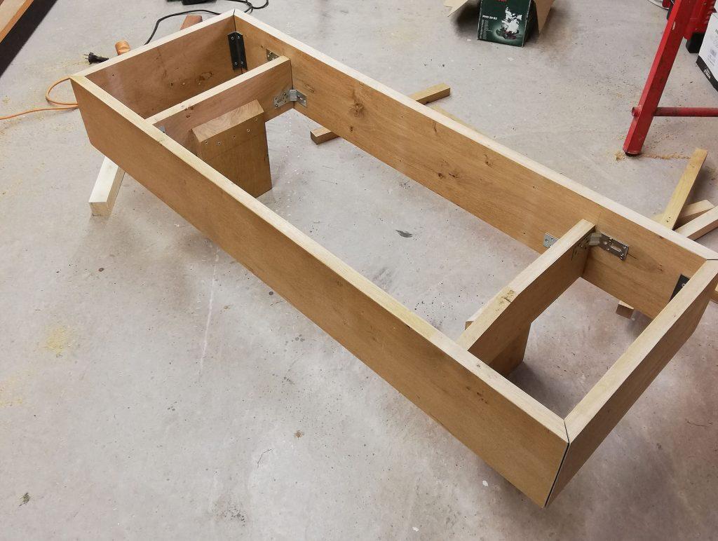 fabrication banc chêne